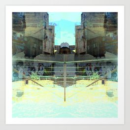 Ocular, cyclical, curved upscale pyrotechnic yell. Art Print