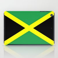 jamaica iPad Cases featuring Jamaica Flag by D.A.S.E. 3