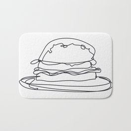 Cheeseburger Cheeseburger Bath Mat