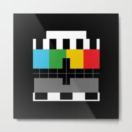 Television Test Pattern  Metal Print
