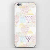 memphis iPhone & iPod Skins featuring Memphis geométrico by Flor Tate