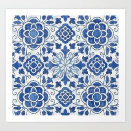 Azulejos Art Print
