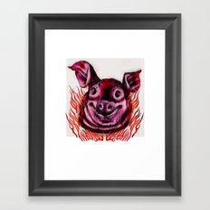 BBQ Framed Art Print