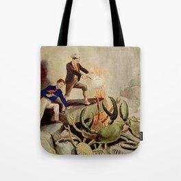 Giant crabs attack Tote Bag