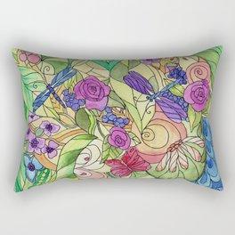 Stained Glass Garden Too Rectangular Pillow