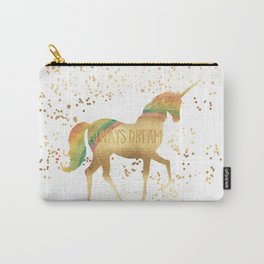 Gold Rainbow Dream Unicorn Carry-All Pouch