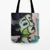 bianca green Tote Bags featuring Bianca by Sarah Huth