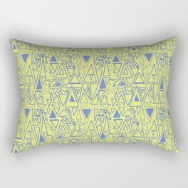 Chaotic Angles in Green by Deirdre J Designs Rectangular Pillow
