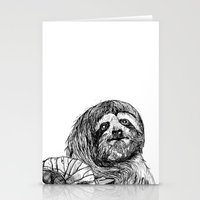 sloth Stationery Cards featuring sloth by ARI(Sunha Jung)