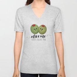 Olive Me Loves Olive You Unisex V-Neck