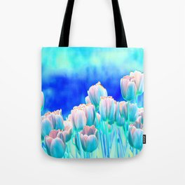Tulips in Spring Abstract Tote Bag