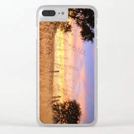 Evening Glow a country sunset Clear iPhone Case