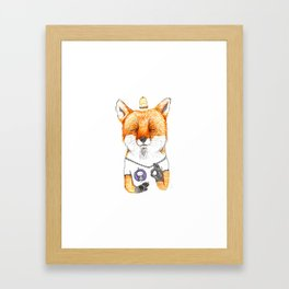 Ok fox Framed Art Print