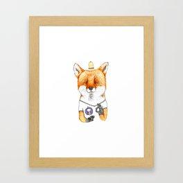 Ok fox Framed Art Print