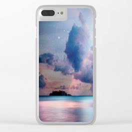 The Island of Life Clear iPhone Case