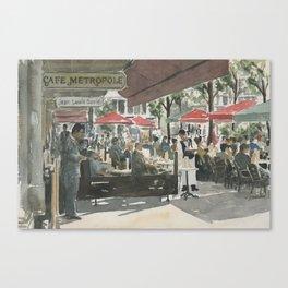 Café Metropole Canvas Print