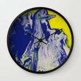 Marble Earth Pour Deux Wall Clock
