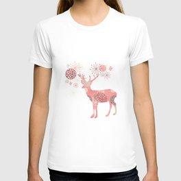 Flower deer T-shirt