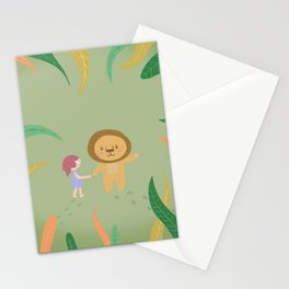 Girl and the lion Stationery Cards