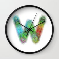 letter Wall Clocks featuring Letter W by David Zydd