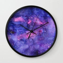 Galaxy Pattern Watercolor Wall Clock