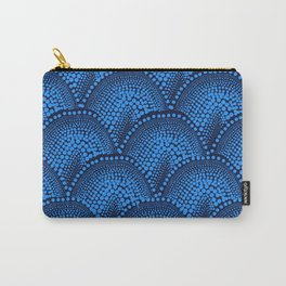 Many Blue Dots (Black Background) Carry-All Pouch
