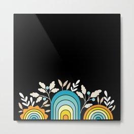3 Rainbows Metal Print
