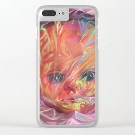 Iridescent Doll / Rosenquist Clear iPhone Case