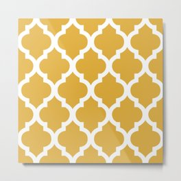 Moroccan Mustard Metal Print