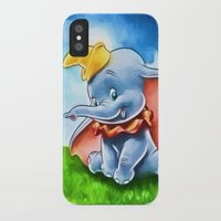 dumbo iPhone & iPod Cases featuring Dumbo by DisPrints