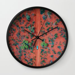 The Australian Outback Roads | Aerial Wall Clock
