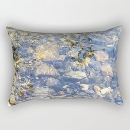 Underwater Mountain River Rocks Rectangular Pillow