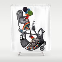 monster Shower Curtains featuring MONSTER by ISSO