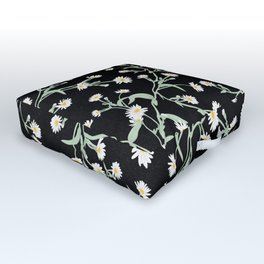 Oxeye (Black) Outdoor Floor Cushion