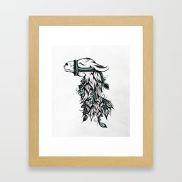 Poetic Llama Framed Art Print
