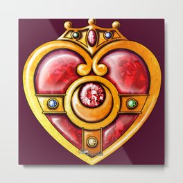 Sailor Moon CLOCK 3 Metal Print