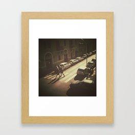 Oh the sun Framed Art Print