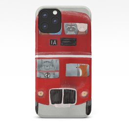 the little big red bus iPhone Case