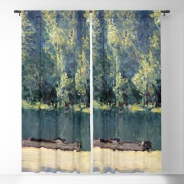 Banks of the Loing (1891) by Alfred Sisley Blackout Curtain