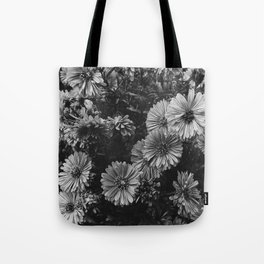 FLOWERS - FLORAL - BLACK AND WHITE Tote Bag