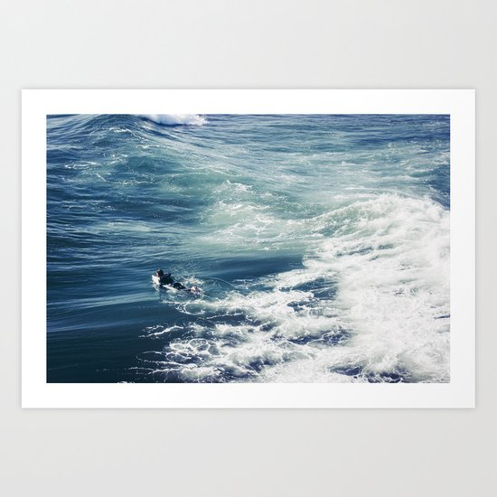 Surfing the Pacific Art Print