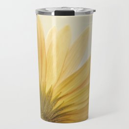 Gold Yellow Flower Photography, Golden Daisy Floral Photo, Nature Botanical Macro Picture Travel Mug