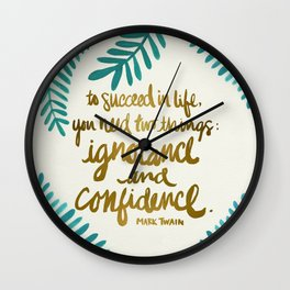 Ignorance & Confidence #1 Wall Clock