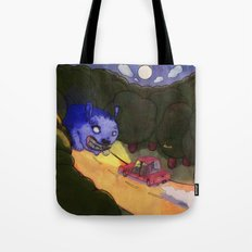 Something in the  headlights Tote Bag