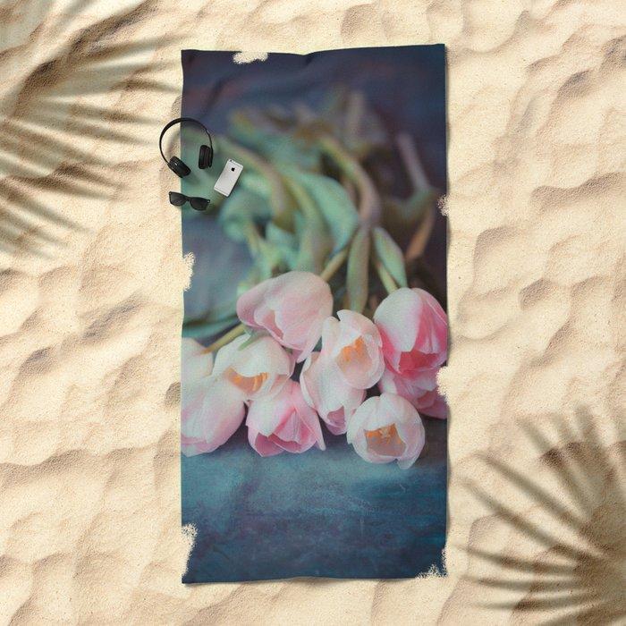 Beautiful Tulips Beach Towel