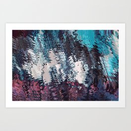deep blue syche Art Print