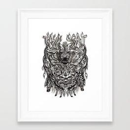 Zebra mask  Framed Art Print