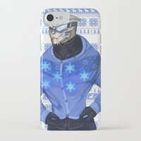 garrus iPhone & iPod Cases featuring Advances in Christmas Sweaters - Garrus by Weissidian