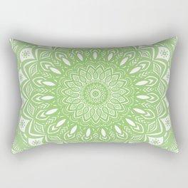 Light Lime Green Mandala Simple Minimal Minimalistic Rectangular Pillow