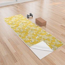 ginkgo leaves (yellow) Yoga Towel